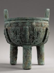 Large-archaic-bronze-ritual-food-vessel